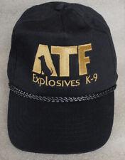 ATF EXPLOSIVES K-9 black hat cap size adult adjustable