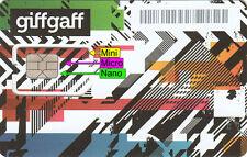 2 x PAYG (Trio)(Standard + Micro + Nano) SIM card GIFFGAFF UK £5 FREE US SELLER