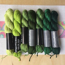 Planet Earth Pepper Pot hand painted single strand silk collection Green Pepper