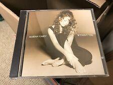 MARIAH CAREY WITHOUT YOU CD SINGLE COL CSK 5620 DJ PROMO