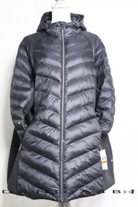 Michael Kors Hooded Quilted Mixed Media Jacket Puffer Coat Black Plus 3X