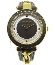 Versus by Versace Women's SCK080016 'KEY BISCAYNE II' Leather Brown Watch 37 MM