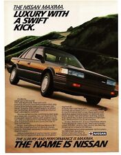 1987 Nissan MAXIMA SE Black 4-door Sedan VTG PRINT AD