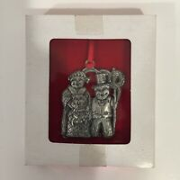 Pewter Christmas Ornament 3 Bears Caroling Wallace Silversmiths