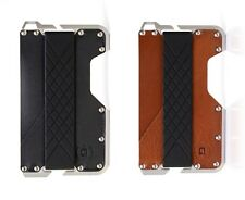 Dango Dapper EDC Wallet (Made in USA) - Genuine Leather, CNC Alum, RFID Blocking