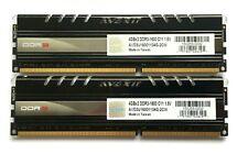 8GB (2 X 4GB STICKS ~ MATCHED SET) AVEXIR CORE BLUE LEDs DDR3-1600 RAM