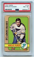 1972-73 Topps #136 Barclay Plager Graded 8.0 NM-MT (2021-34)