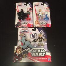 NEW Playskool Galactic Heroes Star Wars Lot Han Solo Tauntaun Darth Vader Luke