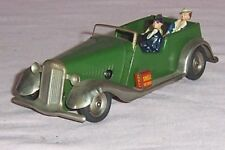 VINTAGE CLOCKWORK TRIANG MINIC TOURER PRE WAR WITH TAYLOR & BARRETT FIGURES,