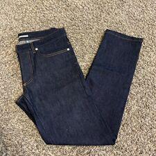 Dior Homme Slim 17.5 Dark Blue Stretch Denim Skinny Jeans Size 29