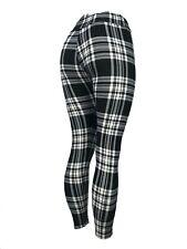 PLAID! Black & White Leggings Pants Soft - One Size & Curvy