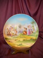 Antique Victoria Carlsbad Austria Kaufmann Hand Painted Charger Neoclassical EUC