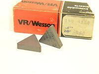 NEW SURPLUS 5PCS. VR/WESSON  TNU 433B GRADE: 660  CARBIDE INSERTS