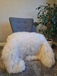 Natural Sheepskin Rug EXTRA LARGE Pelt 100% Soft and Fluffy GIANT Real Fur White