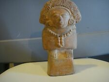 "PRE COLUMBIAN FIGURE 7"" x 4. MAYAN CLASSIC PERIOD OVER 1000 YEARS OLD AUTHENTIC"