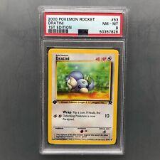PSA 8 NM - MT Dratini 1st edition Team Rocket - 2000 Pokémon Card