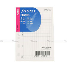 New Filofax Pocket Size Organiser Finances Diary Notepaper Refill Insert  210618