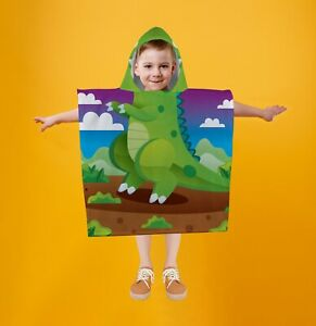 Dinosaur - Kids SNUGAROO Hooded Fleece Poncho