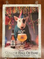 1985 SPUDS MACKENZIE Original Party Animal BUD LIGHT POSTER College BUDWEISER