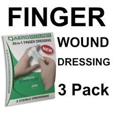 3 X FINGER DRESSING STERILE COMPRESSED BANDAGE FIRST AID