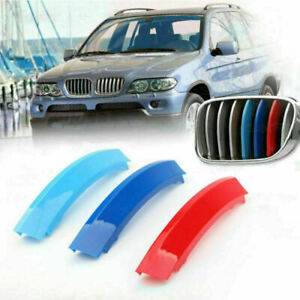 Kidney Grille M Sport 3 Color Cover Stripe Clips For BMW X5 E53 LCI 2004-2007 AY