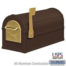 Salsbury Eagle Rural Mailbox - Bronze - Gold Eagle-MAILBOX 4855E-BZG NEW