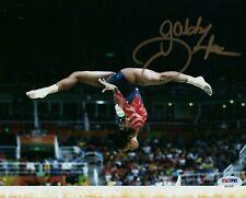 GABBY DOUGLAS TEAM USA OLYMPICS GYMNASTICS SIGNED 8x10 (PSA COA) (8-2)