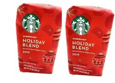 Starbucks Holiday Blend Medium Roast Ground Coffee, 10 Ounce, 2 Bags, 06/2020
