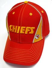 Kansas City Chiefs NFL Team Apparel Hat Cap Red / Yellow Wedges Stitched Text