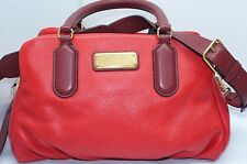 New Marc by Marc Jacobs Baby Groovee Satchel Red Bag Handbag Leather
