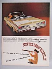 Dodge Polara Convertible PRINT AD - 1966