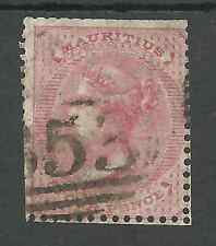 MAURITIUS SG48 THE 1860-3 NO WAT 6d ROSE  USED  CAT £40