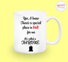 THRONE SARCASM WORK MUG funny novelty tea coffee gift women men office easter