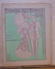 Strolling With Your Summer Girl  - 1906 newspaper sheet music - by Bendernagel