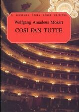 Mozart Cosi Fan Tutte Vocal Score Choral Voice Learn Sing OPERA Music Book