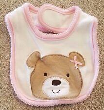 SWEET! CARTER'S NEWBORN PINK BEAR BABY BIB REBORN