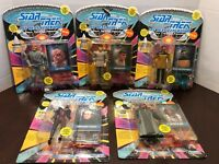 "5 Star Trek Next Generation Space The Final Frontier 5"" Action Figures New"