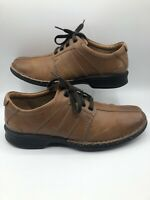 Clarks Mens Brown Leather Lace Up Shoe Shoes Sz 8.5 Ortholite Cushion 14885