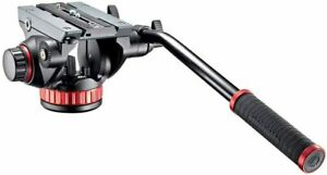 """MANFROTTO MVH502AH HD PRO FLUID HEAD W/FLAT BASE (3/8""""-16 Connection) SHIPS FREE"""
