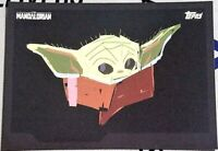 "2020 Topps The Child Baby Yoda #10 ""Black Sketch"" Sticker Mandalorian /873 Grogu"
