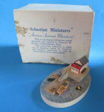 """Vintage Sebastian Miniatures """"Lobster Pound� 1985 Signed"""