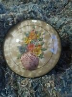 Vintage Shell Floral Bouquet in Convex Glass Round  Peter Watson Studio