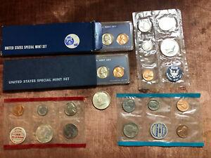 UNC 1964 JFK Half + 1965, 1966, 1967 Special Mint Sets + 1968 Mint Set