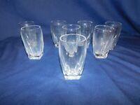 J2 - Heisey Glass Co. USA Coleport Crystal 5 oz Bar Tumbler Lot of 8  circa 1935