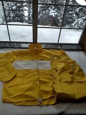 Vintage HIND Biking yellow  Rain Gear Size XL Coat, Pants made in usa R2