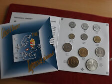 * Selten ! Ungarn KMS 1993 mit 200 Forint Silber *11 Münzen 10 Filler-200 Forint