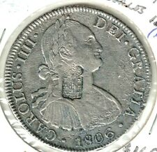Portugal c.1834 KM# 440.13 870 Reis Counterstamped on Mexico 8 Reales KM# 109 **