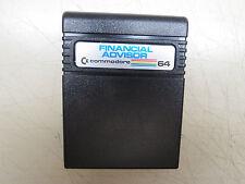 FINANCIAL ADVISOR    Cartridge Commodore 64 C64 SX64 C128 Tested Working