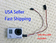 Gopro Hero 3 Hero 4 USB to AV Video Output & 5V DC Power BEC input Cable FPV