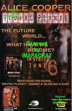 Alice Cooper Brutal Planet CD Release Print Ad